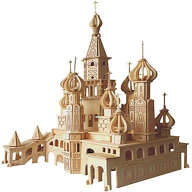 voordelige 3D-puzzels-Houten puzzels Zwaan Kasteel professioneel niveau Puinen 1 pcs Kinderen Jongens Meisjes Speeltjes Geschenk