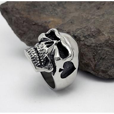 男性用 指輪 幸福 あり チタン鋼 ハート スカル ジュエリー 用途 日常 カジュアル