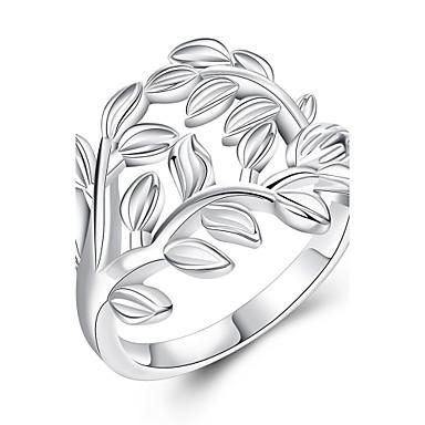 指輪 銅 銀メッキ シンプルなスタイル シルバー ジュエリー 結婚式 パーティー 日常 カジュアル 1個