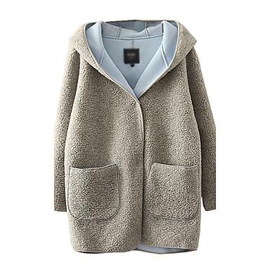 separation shoes 6c05b 0689b 2016 Winter neue koreanische Version des Kaschmir-Wollmantel Mädchen langen  Abschnitt aus dicker Baumwolle Jacke