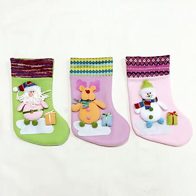 korkealaatuinen m koko tekstiili joulu sileää / christmas varastointi / koriste