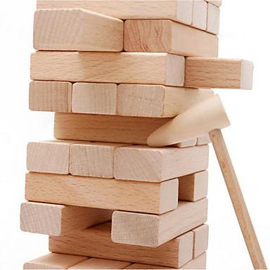 Muwanzi Rakennuspalikat Rakennuslelut Puzzle-pöydän pelejä Palikkatorni Puupalikka Lelut Tasapaino Puinen Puu Klassinen Klassinen 54pcs