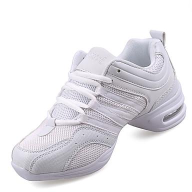 Women's Dance Sneakers Synthetic Sneaker Cuban Heel Non Customizable Dance Shoes White / Black / Gold / Indoor / Practice