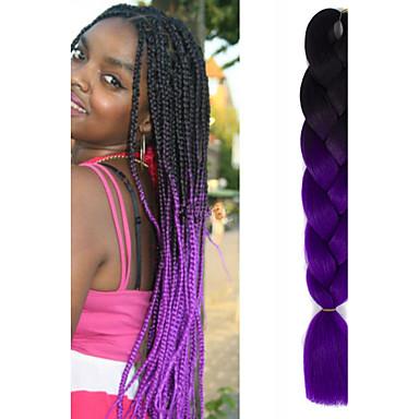Tresses au Crochet Rajouts Colorés 100% cheveux kanekalon 1 Tresses Jumbo Tresse Natté