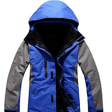 男性用 ハイキング ジャケット 防水 保温 防風 快適 厚型 トップス のために ランニング 春 冬 秋 S M L XL