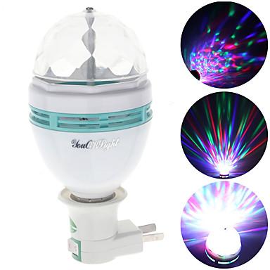 3W E26/E27 LED-lavavalaistus A60(A19) 3 Teho-LED N/A lm RGB Koristeltu V 1 kpl