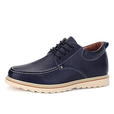 メンズ 靴 レザーレット 春 夏 秋 冬 コンフォートシューズ オックスフォードシューズ 用途 カジュアル ブラック Brown ブルー