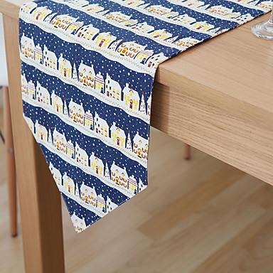 長方形 フラワー パターン柄 テーブルランナー , リネン 材料 ホテルのダイニングテーブル 表Dceoration