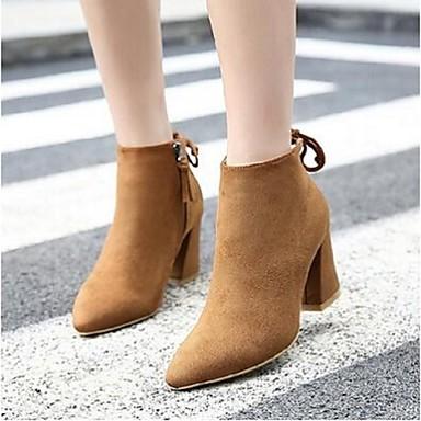 Naisten Kengät Mokkanahka Comfort Bootsit Musta / Vaalean ruskea