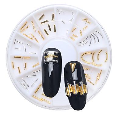 1 Nail Smykker Andre dekorasjoner Glitters metallic Mote Høy kvalitet Daglig