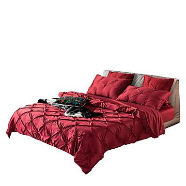 Duvet Cover Sets Luxury Silk / Cotton Blend / Cotton Handmade 4 PieceBedding Sets / 300