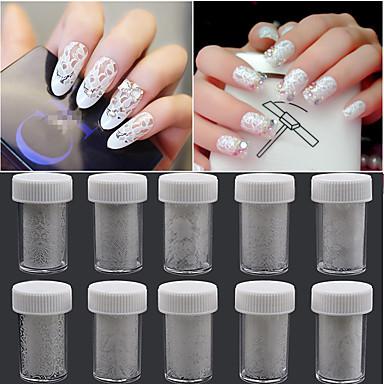 10pcs Nail Art klistremerke Lace Sticker makeup Cosmetic Nail Art Design