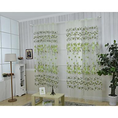 Rypytysnauha One Panel Window Hoito Kantri , Painettu Kukka Living Room Polyesteri materiaali verhot Drapes Kodinsisustus