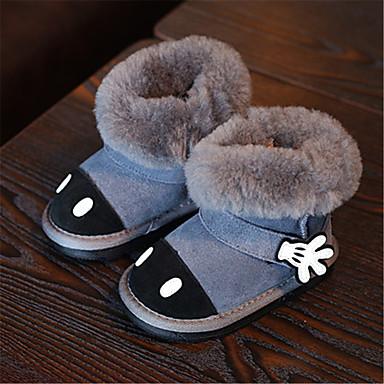 Lapset Poikien Vauvat Bootsit Comfort Talvisaappaat Nahka Talvi Kausaliteetti Comfort Talvisaappaat Kukkakuvio Tasapohja Musta Harmaa