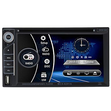 رخيصةأون مشغلات DVD السيارة-BYNCG 6201 6.2 بوصة 2 Din Windows CE 6.0 في اندفاعة دي في دي لاعب إلى عالمي الدعم / DVD-R / RW / MP4 / بطاقة TF
