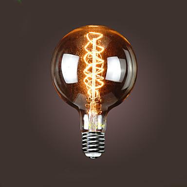 bofa g150 e40 40w lâmpada de bolinha de seda edison antiga (85v-265v)