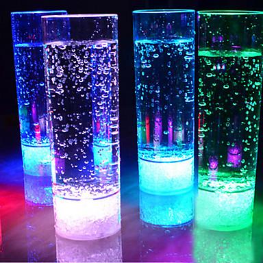 1 stk 400ml 7 skiftende farger ledet drikke kopp natt lys LED blinkende juice lys for KTV fest bar flameless lys cup