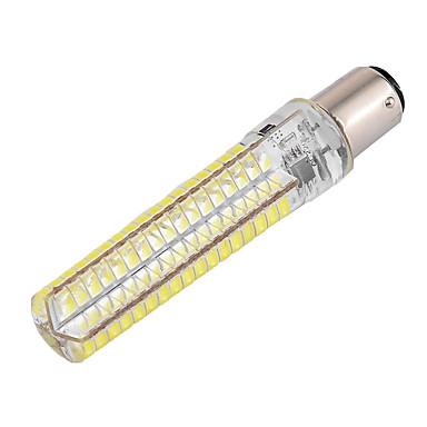 billige Elpærer-ywxlight® dimbar ba15d 10w 900lm 136led 5730smd varm hvit, kald, hvit, silikon ledd maislys AC 110-130v AC 220-240v