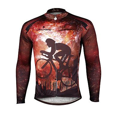 ILPALADINO Per uomo Manica lunga Maglia da ciclismo Di tendenza Bicicletta Maglietta / Maglia Top Traspirante Asciugatura rapida Resistente ai raggi UV Gli sport 100% poliestere Terital Ciclismo da