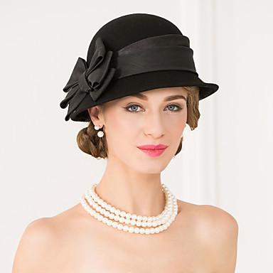 voordelige Hoeden-Edelsteen & Kristal / Wol / Tule Kentucky Derby Hat / hatut / Helm met Kristal / Veer 1 Bruiloft / Speciale gelegenheden  / Feest / Uitgaan Helm