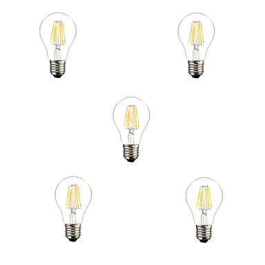 5 Stück 6W 560lm E26 / E27 LED Glühlampen A60(A19) 6 LED-Perlen Hochleistungs - LED Dekorativ Warmes Weiß / Kühles Weiß 220-240V