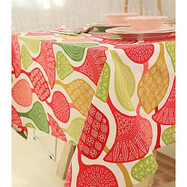 Neliö Patterned Table Cloths , Mélange Lin/Coton materiaali Hotel ruokapöytä Taulukko Dceoration Sisustus
