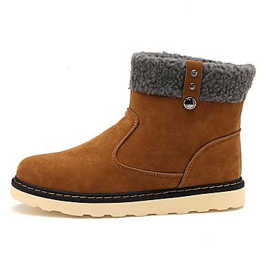 Miehet kengät Mokkanahka Kevät Syksy Talvi Comfort Muotisaappaat Bootsit Käyttötarkoitus Kausaliteetti Musta Ruskea Sininen