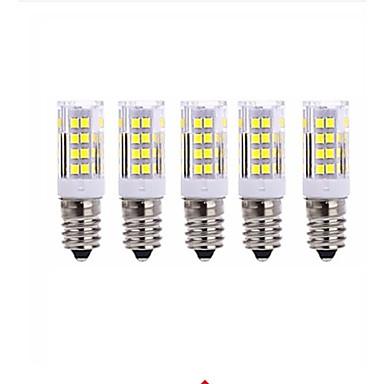 5pcs 5W 2700-3000/6000-6500lm E14 LED-kornpærer T 51 LED perler SMD 2835 Varm hvit Kjølig hvit 220V