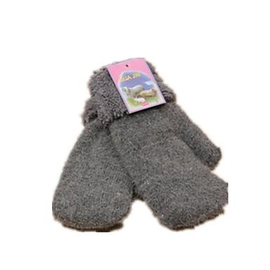 (Merk - mørk grå) ms ull varme hansker
