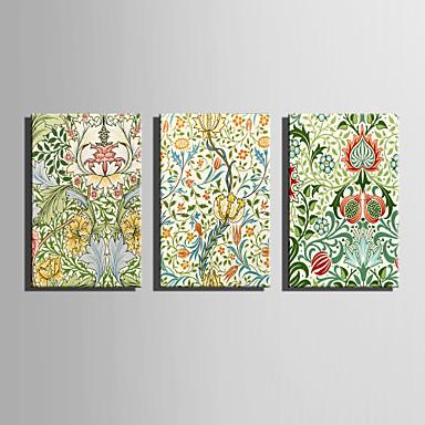 Canvas Set Kukkakuvio/Kasvitiede Moderni,3 paneeli Kanvas Pystysuora Tulosta Art Wall Decor For Kodinsisustus