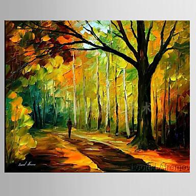 Håndmalte Landskap Kvadrat, Moderne Parfymert Lerret Hang malte oljemaleri Hjem Dekor Et Panel