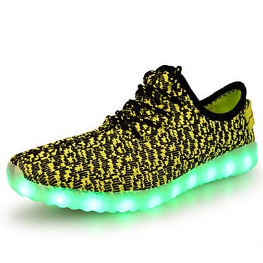 Unisex Kengät Tyll Kevät Syksy Comfort Uutuus Välkkyvät kengät Urheilukengät Tasapohja Pyöreä kärkinen Solmittavat LED varten