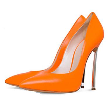 Damen-High Heels-Büro Lässig Party & Festivität-Kunstleder-StöckelabsatzSchwarz Gelb Rot Weiß Beige Orange Aktmalerei Rosenrosa