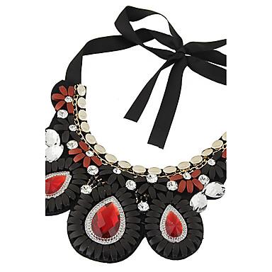 Mujer Borla Collar / Collares Declaración - Resina Gota Importante, Borla, Bohemio Negro, Rojo Gargantillas Para Casual
