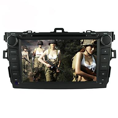 8inch 2 din in-dash auto player za Toyota Corolla 2008-2011 sa GPS, Bluetooth, iPod, RDS, zaslon osjetljiv na dodir