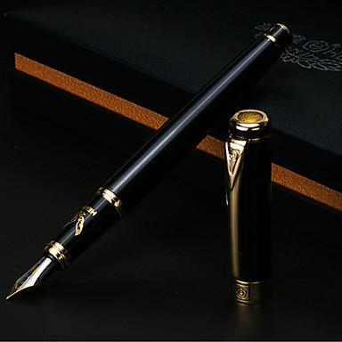 ペン ペン 万年筆 ペン,メタル バレル ブラック インク色 For 学用品 事務用品 のパック