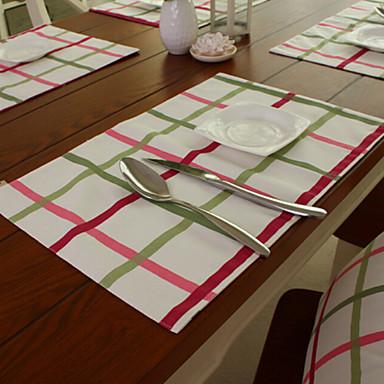 長方形 プリント プレイスマット , コットンブレンド 材料 ホテルのダイニングテーブル 表Dceoration
