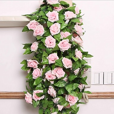billige Kunstige blomster-Kunstige blomster 1 Gren Pastorale Stilen Roser Veggblomst
