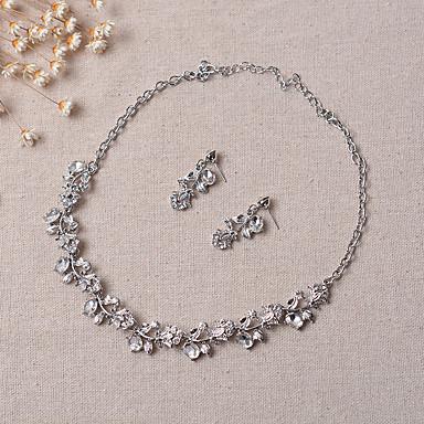 Damen Schmuck-Set Ohrringe / Halsketten - Party Silber Schmuckset / Braut-Schmuck-Sets Für Hochzeit / Party