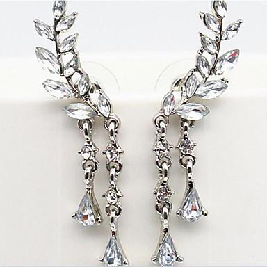 Mulheres Resina Brincos com Clipe / Punhos da orelha - Imitação de Pérola, Strass, Imitações de Diamante Luxo Dourado / Prata Para Festa / Diário / Casual