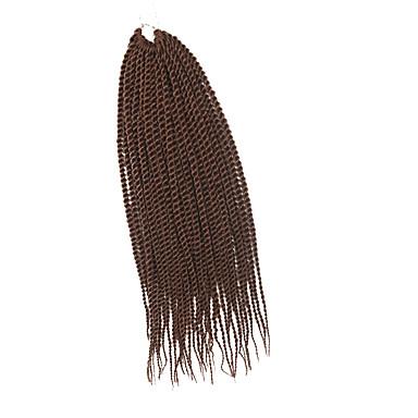 Twist punokset 1kpl / pakkaus Hiusletit Senegal synteettinen Medium Auburn Letitetty Hiuspidennykset