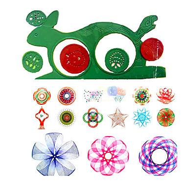 voordelige tekening Speeltjes-Tekenspeelgoed Speelgoed tekentablets Spirograph Plezier Muovi Stuks Kinderen Speeltjes Geschenk
