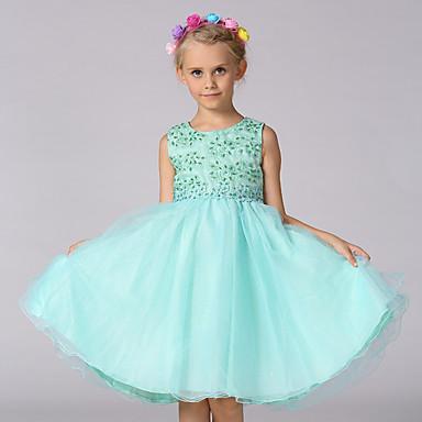 Χαμηλού Κόστους Φορέματα για κορίτσια-Νήπιο Κοριτσίστικα Εξόδου Ζακάρ Αμάνικο Φόρεμα Βυσσινί