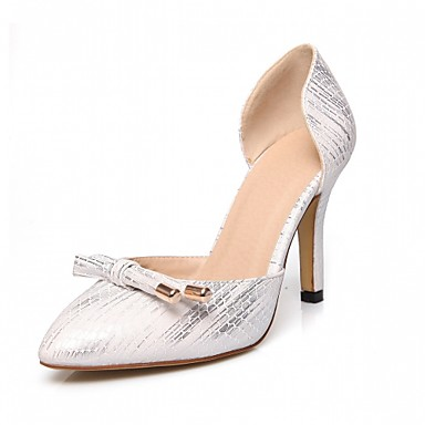 Damen Schuhe Kunstleder Frühling Herbst Komfort High Heels Stöckelabsatz Spitze Zehe für Normal Büro & Karriere Kleid Weiß Schwarz Rosa