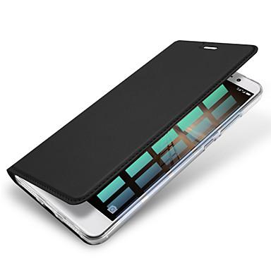Funda Para Huawei P9 / Huawei P9 Lite / Huawei Soporte de Coche Funda de Cuerpo Entero Un Color Dura Cuero de PU para Huawei P9 Lite / Huawei P9 / Mate 9