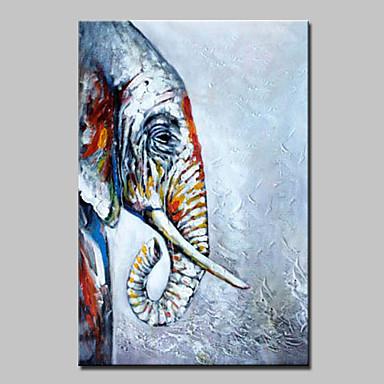 手描きの ポップアップ 動物 油彩画,Modern 1枚 キャンバス ハング塗装油絵 For ホームデコレーション