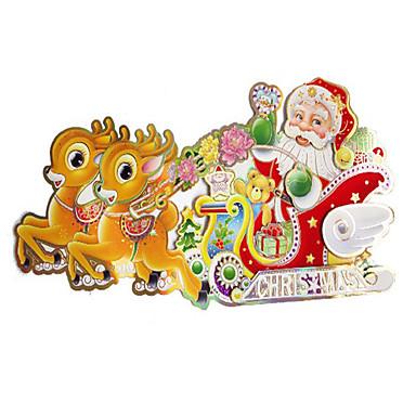 クリスマスデコレーション クリスマスパーティー用品 ホリデー用品 2Pcs クリスマス ペーパー 虹色