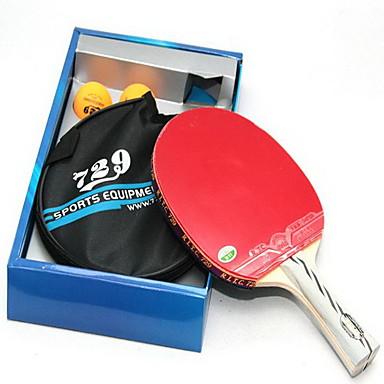 Ping Pang / Tischtennis-Schläger Holz Kurzer Griff / Pickel Kurzer Griff / Pickel 1 Schläger / Tischtennisbälle -
