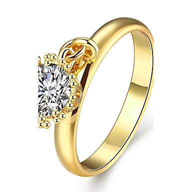 Ring Kubikzirkonia Zirkon Kubikzirkonia vergoldet Rose Gold überzogen Gold Rose Schmuck Für Normal 1 Stück