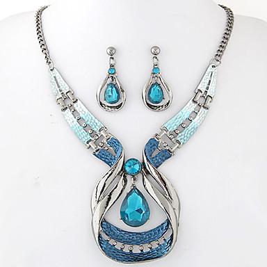 Mujer Conjunto de joyas - Resina Gota Europeo, Moda, Elegante Incluir Pendientes colgantes / Collares con colgantes Azul Para Fiesta / Ocasión especial / Aniversario